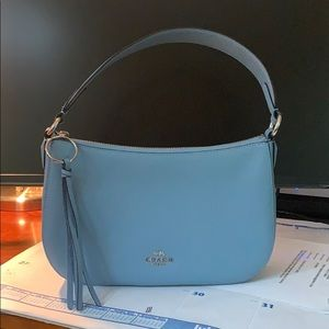 Blue Coach Purse: used once, perfect condition